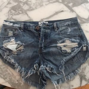 One teaspoon denim jean shorts mini 27